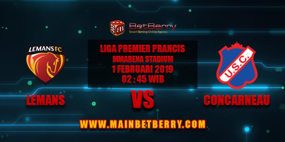 Prediksi Bola Le Mans FC vs Us Concarneau 1 Februari 2019