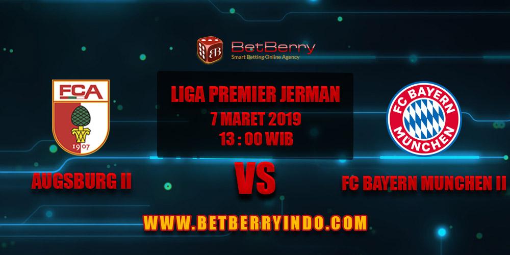 Prediksi Bola Augsburg II vs FC Bayern Munchen II 7 Maret 2019