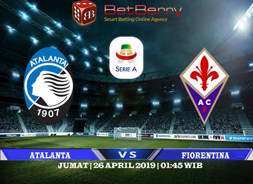 Prediksi Bola Atalanta vs Fiorentina 26 April 2019