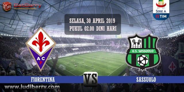 Prediksi Bola Fiorentina vs Sassuolo 30 April 2019