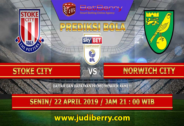 Prediksi Bola Stoke City vs Norwich City 22 April 2019